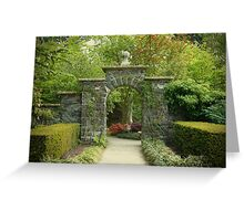 Gateway - Bodnant Gardens, Wales Greeting Card