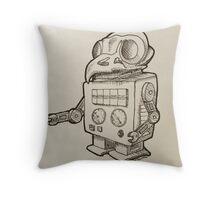 Robo-owl Throw Pillow