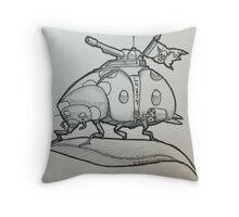 One tough Lady Throw Pillow