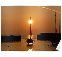 Harbour Spring Sunrise Poster