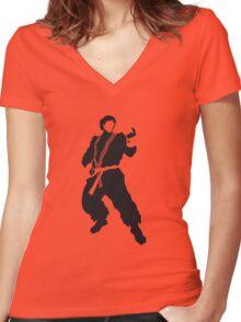 Ken Women's Fitted V-Neck T-Shirt