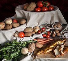 still life of vegetables by juliarabkin