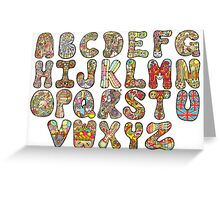 The Beatles Alphabet Greeting Card