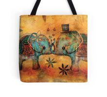 Vintage Elephants Tote Bag
