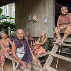 Village Folk - Cambodia by Werner Padarin