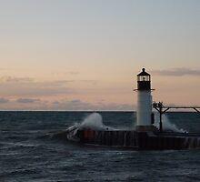 Rough Waters on Lake Michigan by 13jpgbass