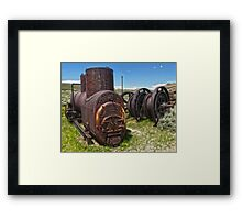 Bodie Ghost Town - Mining Equipment Framed Print