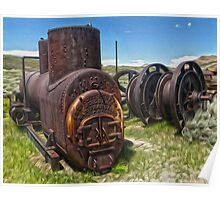 Bodie Ghost Town - Mining Equipment Poster