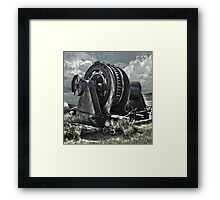 Bodie Ghost Town, Mining Equipment Framed Print