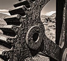Bodie Ghost Town, Mining Equipment by Gregory Dyer