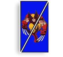 Wolverine Sliced (Geometric) Canvas Print