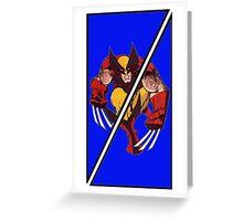 Wolverine Sliced (Geometric) Greeting Card