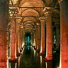 Underground Cistern, Istanbul Turkey by Barbara  Brown