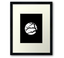 Abstact Tree Vector in white Framed Print