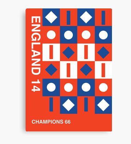England 2014, World Cup QFD #1 Canvas Print