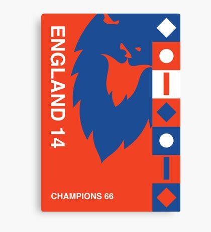 England 2014, World Cup QFD #2 Canvas Print