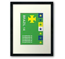 Brazil 2014, World Cup QFD #1 Framed Print