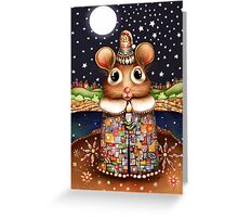 Little Bright Eyes the Radiant Christmas Mouse Greeting Card