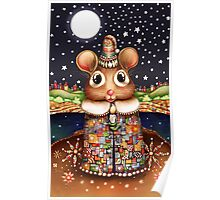 Little Bright Eyes the Radiant Christmas Mouse Poster