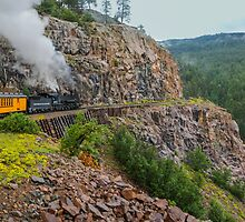 Mountaintop Train Ride by JohnDSmith