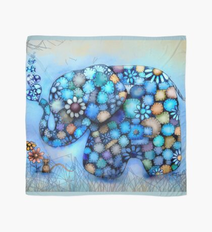 Little Blue the Patchwork Elephant Scarf