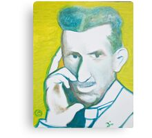 The Nikolai Tesla in green blue in oil painting! Metal Print
