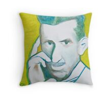 The Nikolai Tesla in green blue in oil painting! Throw Pillow