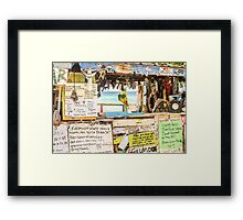 The Bomba Shack Framed Print