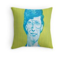 The young Bill Gates in oil painting! Throw Pillow