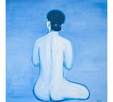 Blue Woman in oil Photographic Print