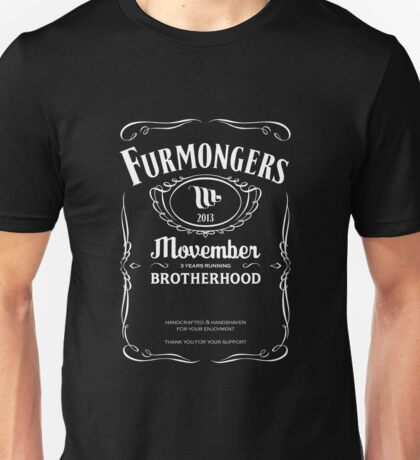FURMONGERS 2013 - Movember Unisex T-Shirt