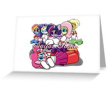 The Sailor Ponies Unite! Greeting Card