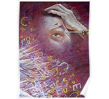 'My Migraine' - Self-Portrait  Poster