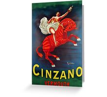 Cinzano Greeting Card