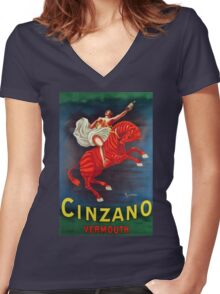 Cinzano Women's Fitted V-Neck T-Shirt