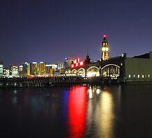 Old Erie Lackawanna ferry slips Hoboken NJ by pmarella
