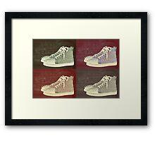 Christian Louboutin Mens Sneakers Pop Art Framed Print