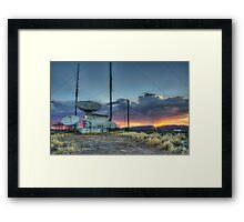 Satellite at Sunset Framed Print