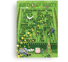 Birthday Garden Party Canvas Print