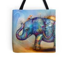 magic rainbow elephant Tote Bag