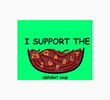 I support the alphabet soup Unisex T-Shirt