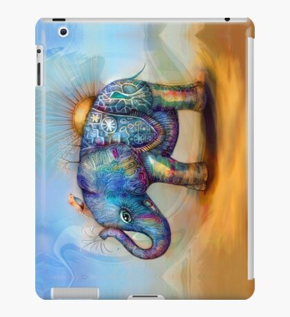 magic rainbow elephant iPad Case/Skin