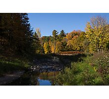Rusty Little Bridge Complimenting the Fall Colors Photographic Print