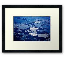 Antarctic ice blocks Framed Print