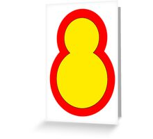 8th Infantry Division, Republic of Korea Army Greeting Card