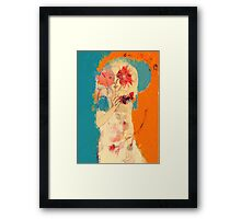 In Blue & Orange Framed Print