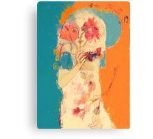 In Blue & Orange Metal Print