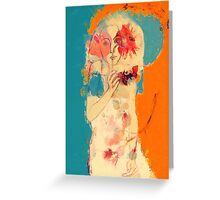 In Blue & Orange Greeting Card