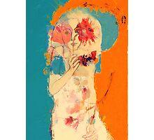 In Blue & Orange Photographic Print