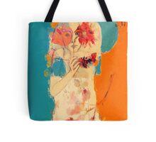 In Blue & Orange Tote Bag